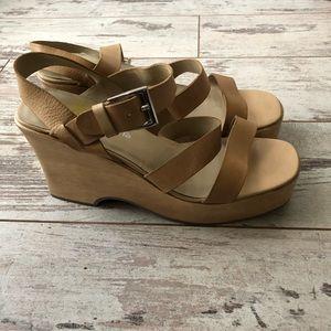 Nine West chunky wooden platform sandal